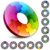 Elements design Circle puzzle