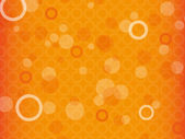 Orange abstract background with circles
