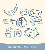 Mail set doodle