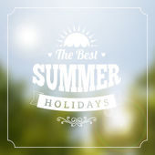 Summer holidays vector typography poster background isolated from background
