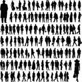 Collection of abstract silhouettes