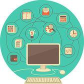 Počítač jako nástroj pro podnikání v tyrkysové kruhu