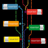 Infographic webová šablona vektor