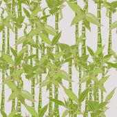 Bezešvé vzor s bambusovými cukrové třtiny