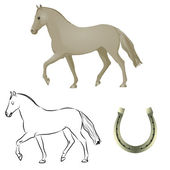 Horseshoes illustrations animals horse vector art silhouette