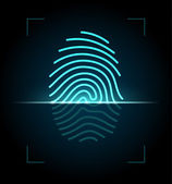 Ilustrace skener otisků prstů