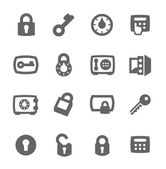Simple set of keys and locks related vector icons for your design