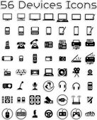 Vector icons set covering electronic devices: computers tablets laptops accessories