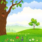 Vector illustration of a forest landscape