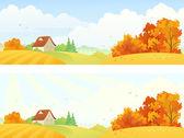 Rural autumn banners