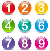 Vector illustration of colored numbers icons on white background