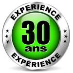 Постер, плакат: Thirty years experience icon