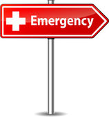 Vector emergency sign