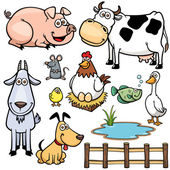 Vector Illustration of Farm Animals cartoon