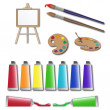 Постер, плакат: Artists supplies icons