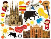 Nationale Elemente in Spanien