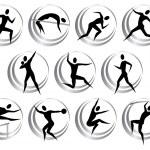 Постер, плакат: Athletics symbols
