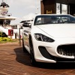 Постер, плакат: Maserati GranCabrio left side
