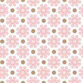 Delicate lovely vector seamless pattern Fond pink white and brown colors Endless texture can be used for printing onto fabric and paper or invitation Stripe and flower shapes