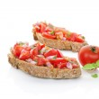 Постер, плакат: Culinary bruschetta eating