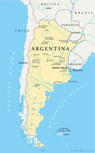 Political map of Argentina with capital Buenos Aires national borders most important cities rivers and lakes Vector illustration with English labeling and scaling