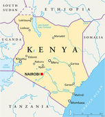 Politická mapa Keni