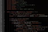 Obecný javascript kód webové stránky na monitoru počítače