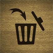 Trash bin Flat modern web button and space for your text Vector EPS10