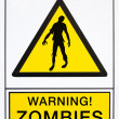 Постер, плакат: Warning zombies signal