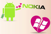 Nokia makes first smart phone with Android OS Concept of android allures nokia from heart broken Windows phone