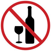 Vector sign: no alcohol