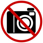 Vector sign: no photo