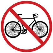Vector sign: no bicycle