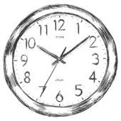 Vector sketch illustration - wall clock