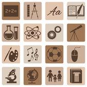 školní předměty ikony