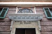 Monte di Piety  v savona, Itálie