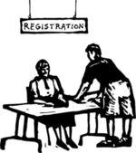 Vektoros illusztráció: regisztráció