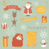 Christmas and winter collection of icons.