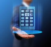 Obchodník s mobilním telefonem