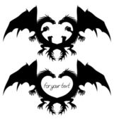 Vector Dragon signs isolated on white