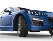 Modré auto extrémní detail