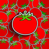 Abstract food vegetables background background from tomatoes wallpaper vector