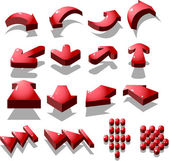 Set of red arrow icon created by vector