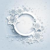 Vánoční rámeček na pozadí sněhu