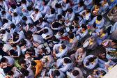 Eindruck, der buddhistischen bei Pagode am Jahrestag überfüllt