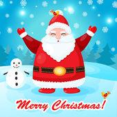 Zábavný a roztomilý vánoční přání s santa