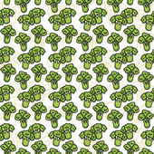 Vector seamless pattern of sketch broccoli Illustration Beautiful background