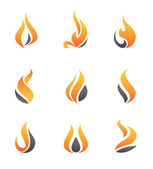 Fire symbol and logo, icon, speed graphic for fast car