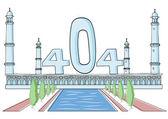Illustrative representation of the Taj Mahal disappearing act