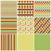 Seamless geometric hipster background set Patterns Vector